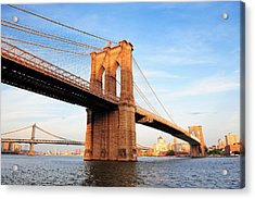 New York City Manhattan Brooklyn Bridge Acrylic Print