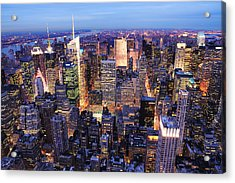 New York City Manhattan Times Square Night Acrylic Print