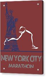 New York City Marathon Acrylic Print by Joe Hamilton