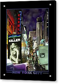 New York City Acrylic Print by Mike McGlothlen