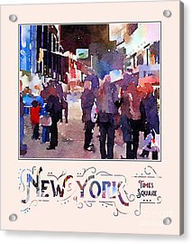 New York City Mounted Police Officers Digital Watercolor Acrylic Print