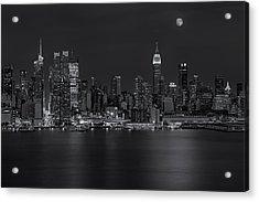 New York City Night Lights Acrylic Print by Susan Candelario