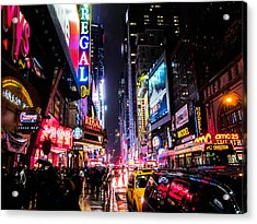 New York City Night Acrylic Print by Nicklas Gustafsson