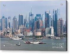New York City Parade Of Sail I Acrylic Print by Clarence Holmes