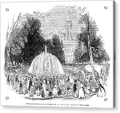 New York City Park, 1844 Acrylic Print