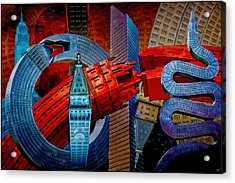 Acrylic Print featuring the photograph New York City Park Avenue Sculptures Reimagined by Chris Lord