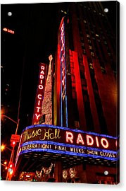 New York City - Radio City Music Hall 001 Acrylic Print by Lance Vaughn