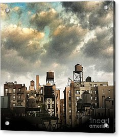 New York City Rooftops Acrylic Print by Amy Cicconi