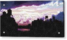 New York City Rooftops Acrylic Print by Tony Rubino