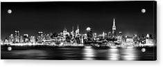 New York City Skyline - Bw Acrylic Print