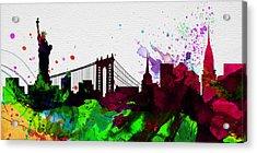 New York City Skyline 2 Acrylic Print by Naxart Studio