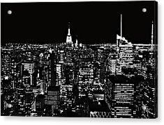 New York City Skyline At Night Acrylic Print by Dan Sproul