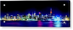 New York City Skyline Acrylic Print by Az Jackson