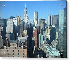 Acrylic Print featuring the photograph New York City Skyline by Dora Sofia Caputo Photographic Art and Design