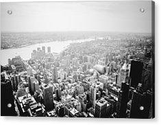 New York City Skyline - Foggy Day Acrylic Print by Vivienne Gucwa