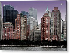 Acrylic Print featuring the photograph New York City Skyline Image by Christopher McKenzie
