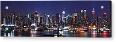 New York City Skyline Panorama Acrylic Print