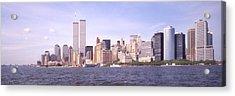 New York City Skyline Panoramic Acrylic Print by Mike McGlothlen