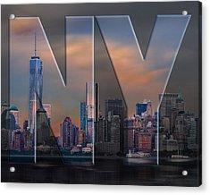 Acrylic Print featuring the photograph New York City Skyline by Steve Zimic