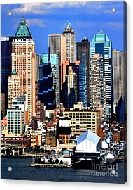 New York City Skyline With One World Wide Plaza Acrylic Print