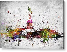 New York City Statue Of Liberty Acrylic Print