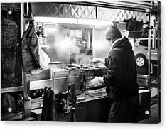 New York City Street Vendor Acrylic Print
