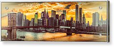 New York City Summer Panorama Acrylic Print