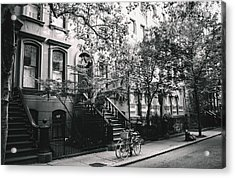 New York City - Summer - West Village Street Acrylic Print by Vivienne Gucwa