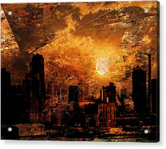 New York City Sunrise Acrylic Print by Bruce Rolff