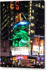 New York City - Times Square - 121212 Acrylic Print