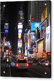 New York City - Times Square - 121219 Acrylic Print by DC Photographer