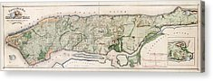 New York City Topography Acrylic Print by Library Of Congress, Geography And Map Division