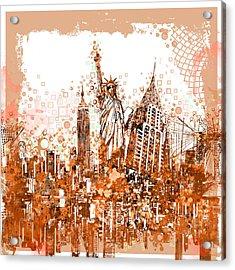 New York City Tribute 4 Acrylic Print by Bekim Art