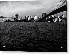 New York City - Two Bridges Acrylic Print by Vivienne Gucwa