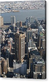 New York City - View From Empire State Building - 121214 Acrylic Print by DC Photographer