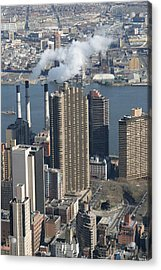 New York City - View From Empire State Building - 121215 Acrylic Print by DC Photographer