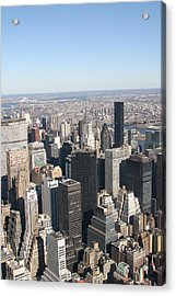 New York City - View From Empire State Building - 121217 Acrylic Print by DC Photographer