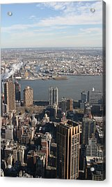 New York City - View From Empire State Building - 121219 Acrylic Print by DC Photographer