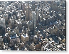 New York City - View From Empire State Building - 121226 Acrylic Print by DC Photographer