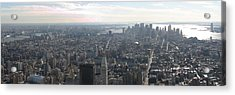 New York City - View From Empire State Building - 121235 Acrylic Print by DC Photographer