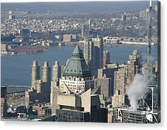 New York City - View From Empire State Building - 12124 Acrylic Print by DC Photographer