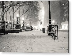 New York City Winter Night Acrylic Print by Vivienne Gucwa