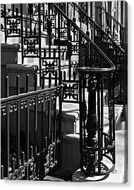 New York City Wrought Iron Acrylic Print by Rona Black