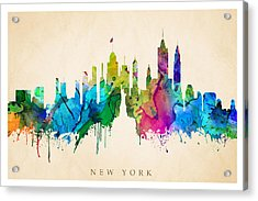 New York Cityscape Acrylic Print