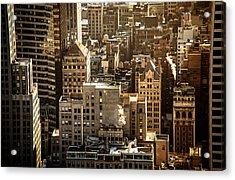 New York Cityscape Acrylic Print by Vivienne Gucwa