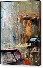 New York Acrylic Print by David Figielek