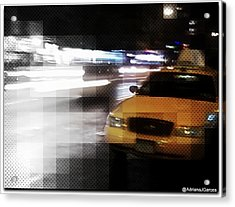 New York Fashion Avenue  Acrylic Print by Adriana Garces