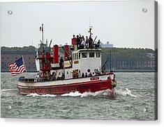 New York Fire Boat Nyc Acrylic Print