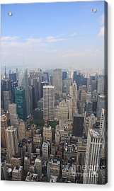 New York From Above Acrylic Print by Christiane Schulze Art And Photography