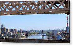 New York From New York Window Acrylic Print by Suzanne Perry